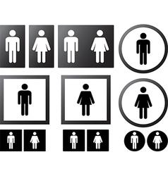 Human signs vector image vector image