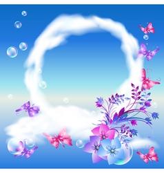 Magical butterflies vector image vector image