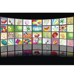 multimedia center presentation vector image vector image