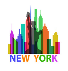 new york poster vector image vector image