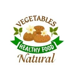 Potato vegetable healthy natural food emblem vector image vector image
