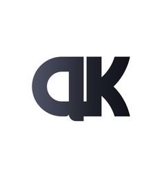 ak a k black initial letter logo design bold vector image