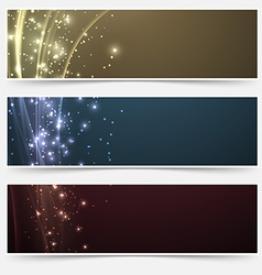 Bright magic shimmering headers collection vector image vector image