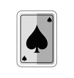 cartoon april fools day card aces shadow vector image
