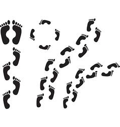 Human steps vector image