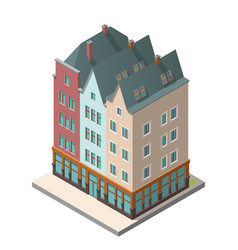 the old residential building in european style vector image