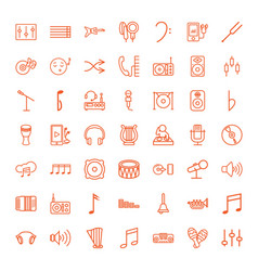 49 sound icons vector image