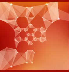 abstract red mesh background vector image