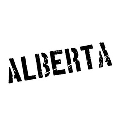 Alberta rubber stamp vector