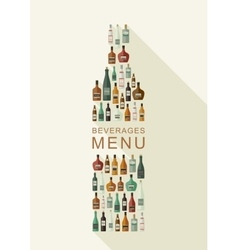 Alcoholic beverages menu vector image