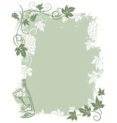 Background grape vines vector