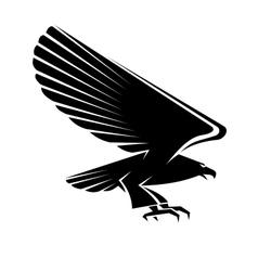 Black eagle tattoo vector image