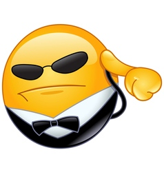 bodyguard emoticon vector image