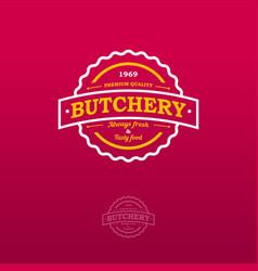 Butchery vintage logo vector