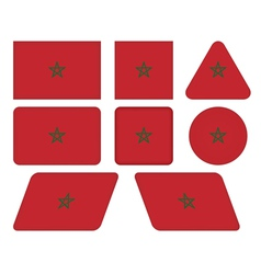 buttons with flag of Morocco vector image