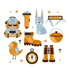 Camping Themed Symbols vector image