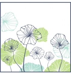card with cute abstract flowers vector image