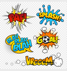 cartoon comic sound effects set3 vector image