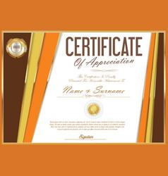 Certificate retro design template 29 vector