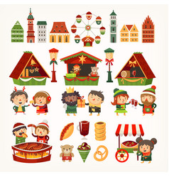 christmas market square vector image