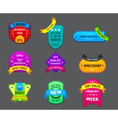 Collection many authentic labels vector