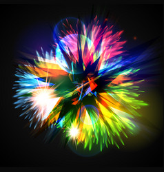 Colorful explodesflowers vector
