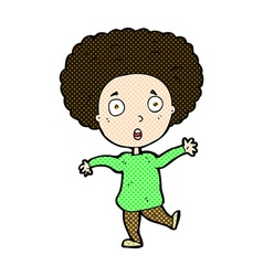 comic cartoon startled person vector image