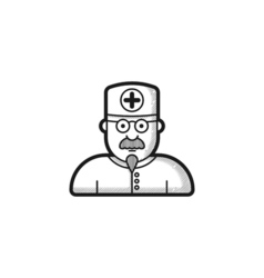 Contour doctor icon four variations hatching vector