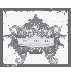 crown with baroque floral vector image