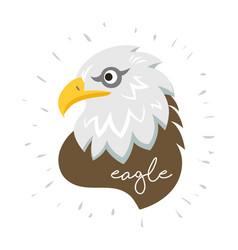 Eagle head fly logo icon cartoon tattoo vector