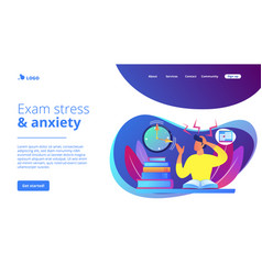 exams and tests concept landing page vector image