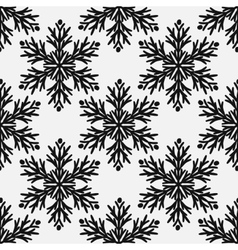 Falling snow seamless pattern Black vector