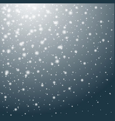 falling snow winter background vector image