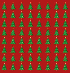 flat christmas tree seamless pattern vector image