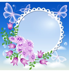 Floral Lace Frame vector image