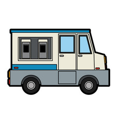 Food truck sideviewicon image vector