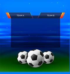Football sports chart design background vector