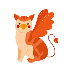 Gryphon baby a mythical animal with wings vector