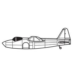 heinkel he178 vector image