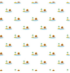 Hotel resort pattern vector