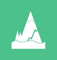 Icon iceberg with crack vector