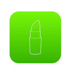 lipstick icon green vector image