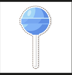 lollipops candy patch isolated on white background vector image