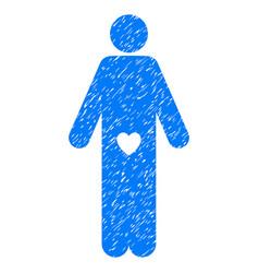 Lover guy grunge icon vector