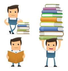mechanic with books vector image