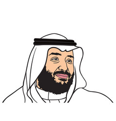 mohammed bin salman design flat design vector image