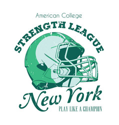 new york strength league poster vector image