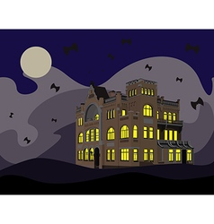 night of halloween vector image