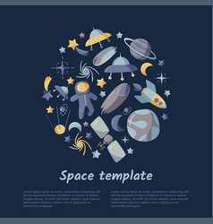 Open space abstract circle shape kids template vector
