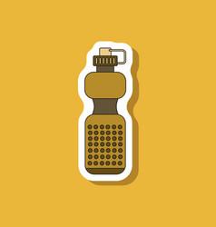 paper sticker on stylish background sports bottle vector image